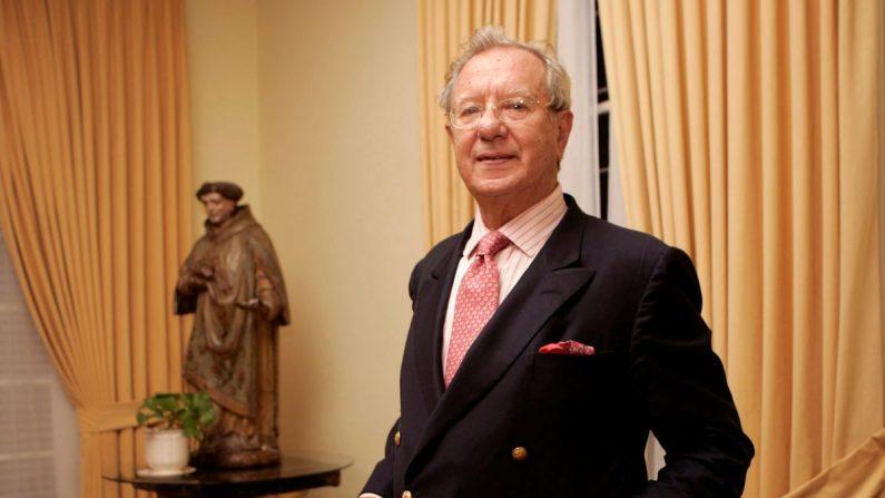 Raúl Morodo en una imagen de 2007 tras concluir su misión diplomática como embajador de España en Venezuela. EFE/Archivo