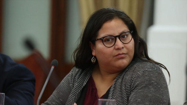 La senadora mexicana Citlalli Hernández, del gobernante Movimiento Regeneración Nacional (Morena). EFE/Archivo