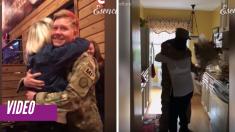 Gritos y lágrimas de alegría marcan la llegada de soldados a casa. Estos reencuentros cambiarán tu día
