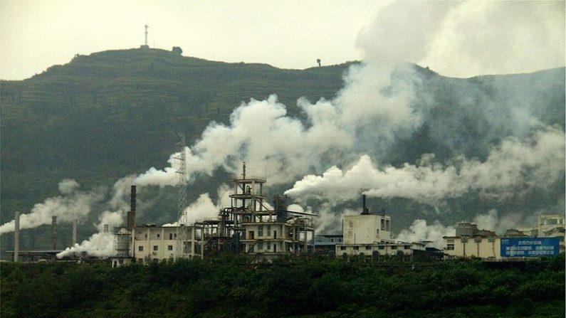 China - gases de polución atmosférica. (Wikimedia Commons)