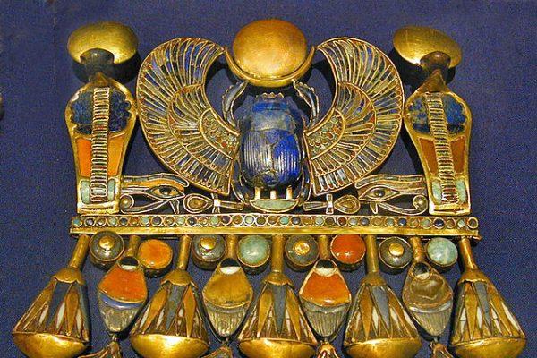 Amuleto de escarabajo de Tutankamón