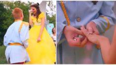 El día normal de esta mujer terminó en una mágica propuesta de bodas de cuento de hadas