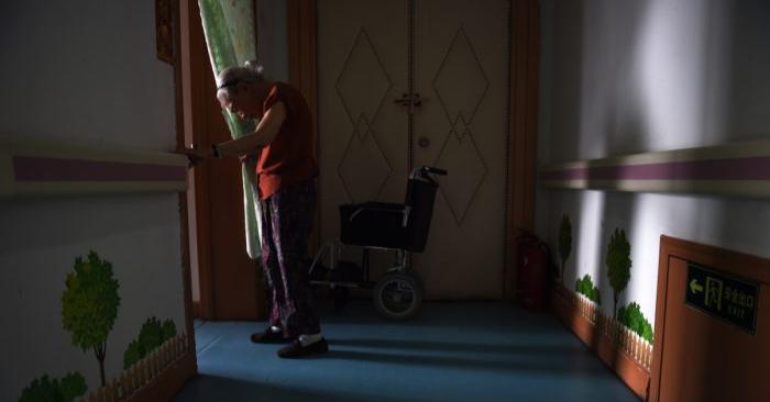 Foto de una anciana en un asilo de China. (Greg Baker/AFP/Getty Images)