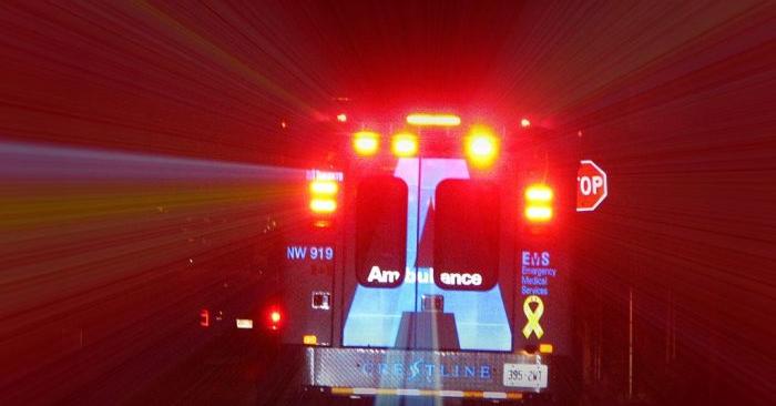 Foto de archivo de una ambulancia.