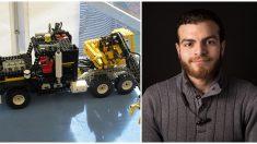 """Nació sin manos ni pies y arma increíbles modelos Lego que inspiran a miles: """"tú puedes hacerlo"""""""