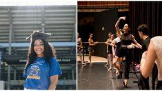 Estudiante ciega y sin hogar se gradúa de la universidad y ahora va por su sueño de ser bailarina