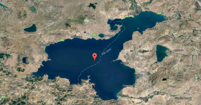 Lake Van, Turquía. (Captura de pantalla a través de Google Maps)