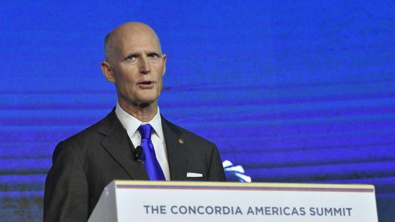 Rick Scott, Senador de Estados Unidos por Florida, el 13 de mayo de 2019 en Bogotá, Colombia. (Gabriel Aponte/Getty Images para Concordia Summit)