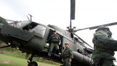 Un helicóptero del Ejército venezolano cae a tierra con siete tripulantes