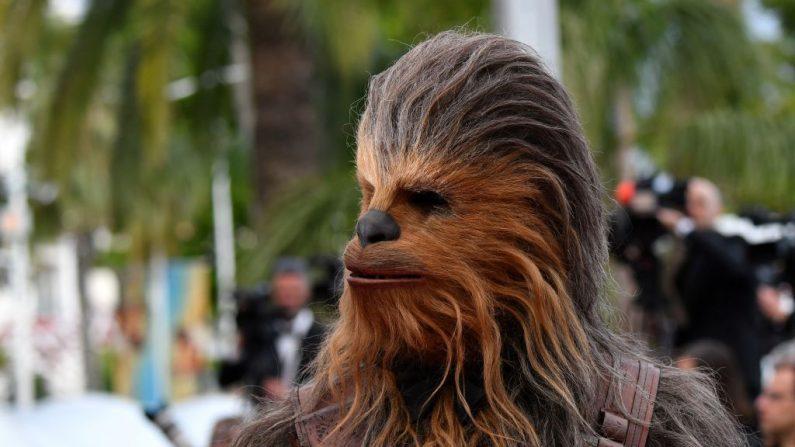 """El actor británicoPeterMayhew, que interpretó a Chewbacca en la saga de """"Star Wars"""", murió a los 74 años. (ALBERTO PIZZOLI/AFP/Getty Images)"""