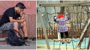 Papá chatea por celular mientras su hijo juega; segundos más tarde, entra en pánico cuando no lo ve