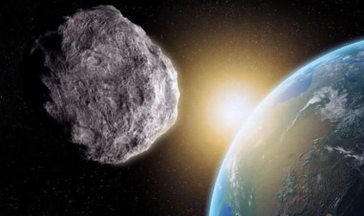Dibujo artístico de un asteroide cerca de la Tierra. (NASA)