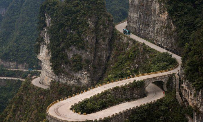 Imagen de un camino de montaña en China. (Lintao Zhang/Getty Images)