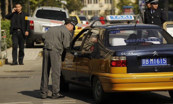 Imagen ilustrativa de un taxi en China. (Peter Parks/AFP/Getty Images)