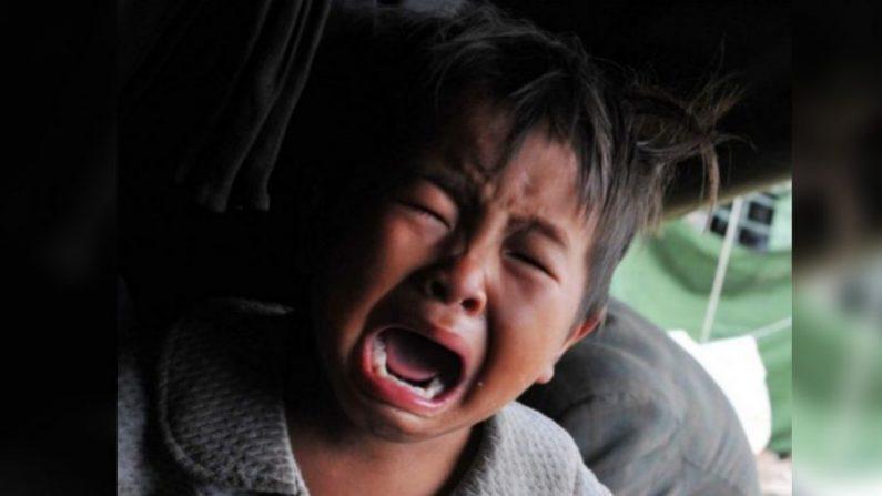 Imagen ilustrativa de un niño chino llorando. (STR/AFP/Getty Images)