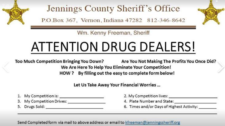 Formulario de la Oficina del Sheriff en Jennings, Estados Unidos. (Oficina del Sherriff)