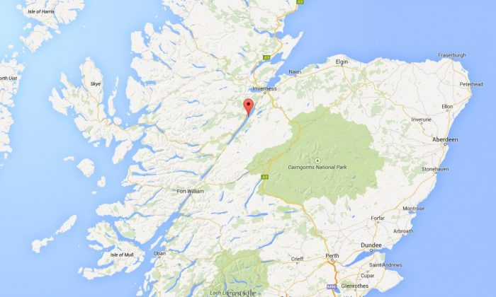 Lago Ness, Escocia. (Google Maps)