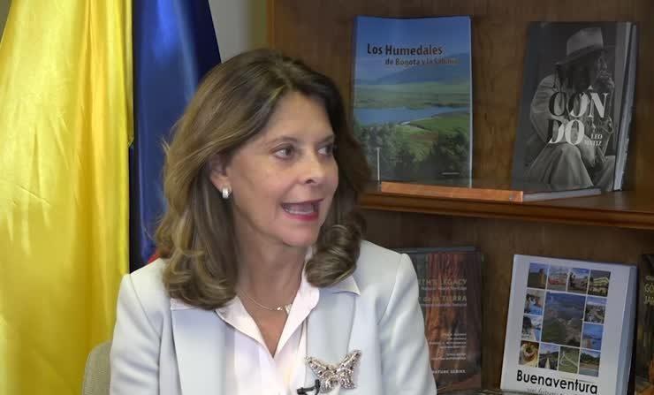Vicepresidenta de Colombia, Marta Lucía Ramírez. (VOA)