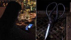 Mujer intenta asesinar a su suegra con unas tijeras haciéndose pasar por un amante de Internet