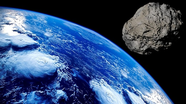Imagen ilustrativa de asteroide.  Maxpixel CC0 Public Domain.
