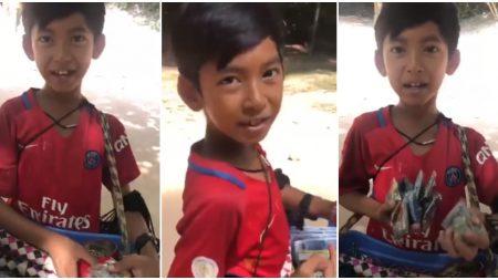 """""""¡Muy bonitos, muy baratos!"""": Un niño camboyano vende sus productos en 12 idiomas y su negocio es un éxito"""