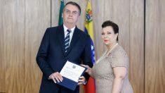 Bolsonaro recibe las credenciales de embajadora del gobierno encargado de Venezuela