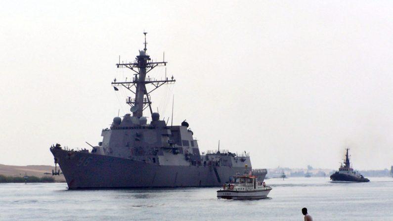 el buque de la marina norteamericana USS Bainbridge. EFE/Archivo