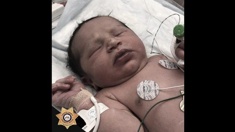 Una niña recién nacida fue encontrada viva en una bolsa de plástico en un área boscosa en Cumming, Georgia, el 6 de junio de 2019. (Oficina del Alguacil del Condado de Forsyth | Facebook)
