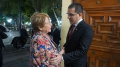 Bachelet llegó a Venezuela y solo la prensa chavista tuvo acceso a su reunión con el canciller