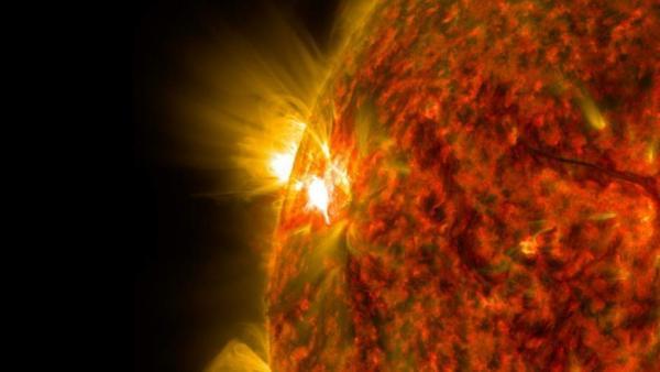 Imagen de archivo de una llamarada solar. (NASA)