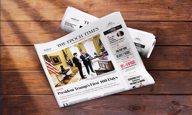 La edición impresa de The Epoch Times. (La Gran Época)