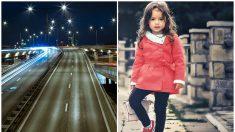 Taxista héroe se mete en sentido contrario para salvar a una nena que camina sola en plena carretera