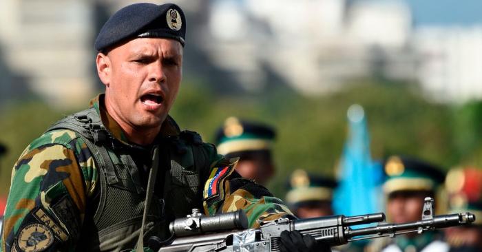 Imagen ilustrativa de la Fuerza Armada Nacional Bolivariana de Venezuela. FEDERICO PARRA/AFP/Getty Images