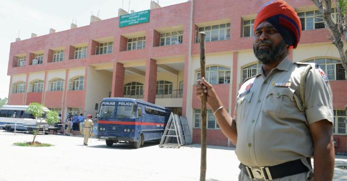 Foto ilustrativa de la policía del Estado de Punjab en India. Foto de NARINDER NANU/AFP/Getty Images.