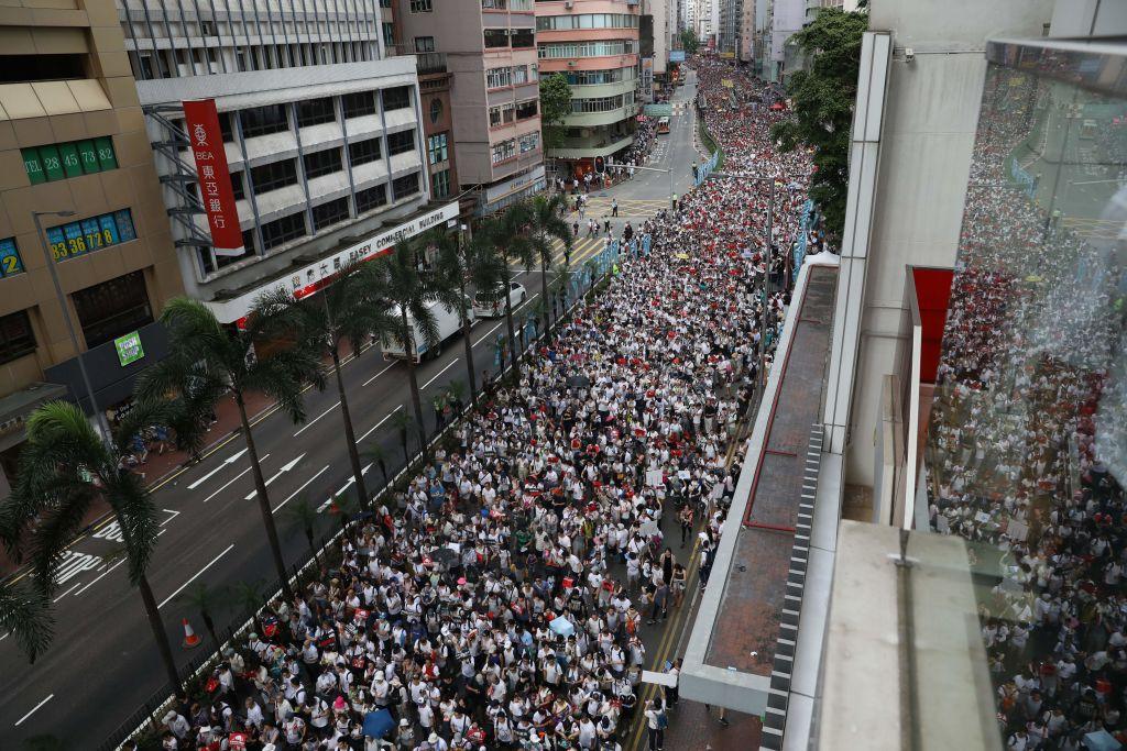Un millón de manifestantes dicen no en Hong Kong a ley de extradición a China continental