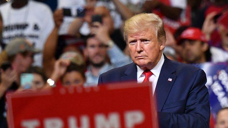 El presidente de Estados Unidos, Donald Trump, durante una manifestación en el Amway Center en Orlando, Florida, para lanzar oficialmente su campaña 2020 el 18 de junio de 2019. (MANDEL NGAN/AFP) Getty Images)