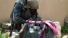 Un hombre sin hogar duerme afuera de un refugio de animales, la desgarradora razón te hará llorar