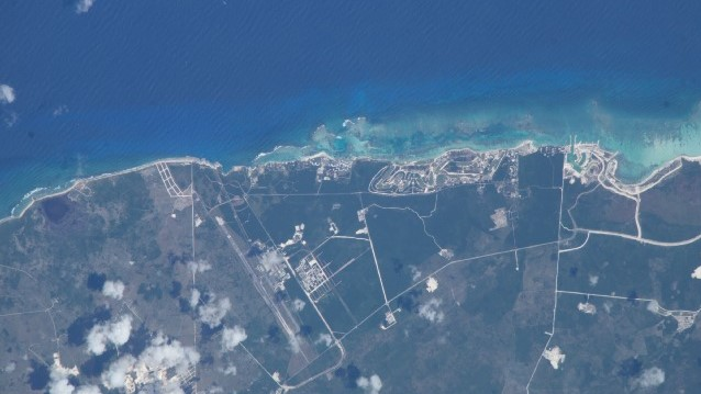 Imagen satelital de Punta Cana. (NASA)