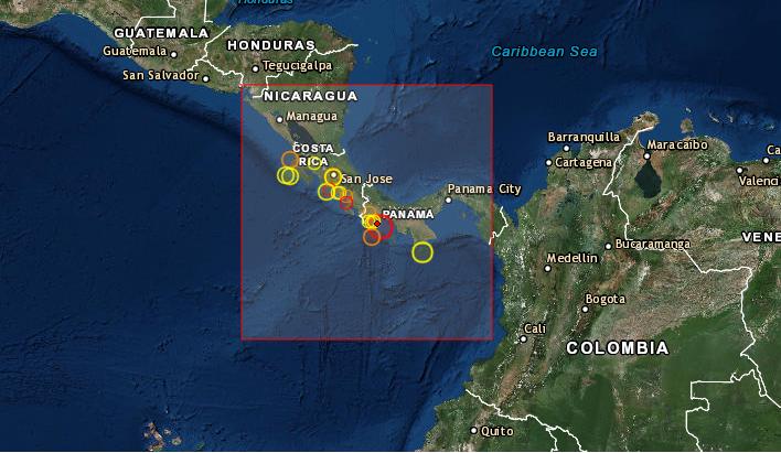 Terremoto en Panamá de 6,3 grados el 26 de junio de 2019 a las 0:23 hora local. (CSEM)