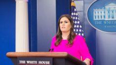 Trump anuncia que Sarah Sanders dejará de ser la Secretaria de Prensa de la Casa Blanca