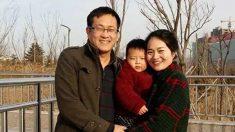 """La esposa de un abogado chino encarcelado lo ve por primera vez en 4 años, dice que es una """"persona cambiada"""""""