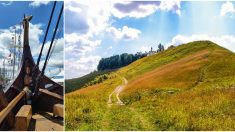 Expertos hallan un barco vikingo de 1000 años de antigüedad sepultado bajo un montículo de tierra