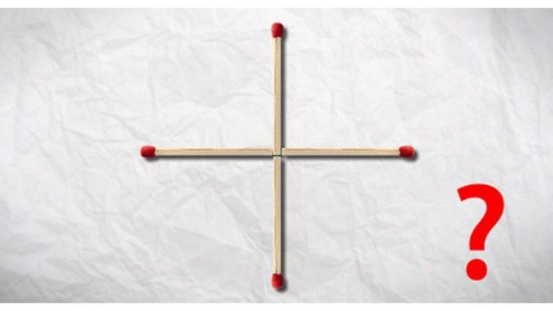 Un clásico para razonar: ¿Puedes hacer una cuadrado con solo mover un cerillo?