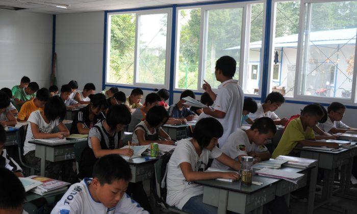 Imagen ilustrativa de un aula con estudiantes en China. (China Photos/Getty Images)