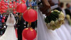 Novia de enfurece con su prometido por armar su boda con objetos usados comprados por Internet