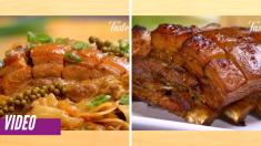 Prepara una deliciosa panceta de cerdo en cocción lenta. ¡Dos platillos en una misma receta!