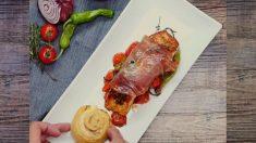 El mejor salmón envuelto en jamón de todos los tiempos