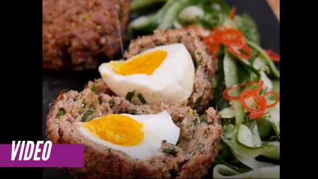 Prepara huevos escoces súper deliciosos y nutritivos