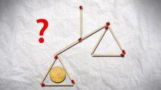Acertijo mental: ¿Puedes mover 5 cerillos para equilibrar la balanza?