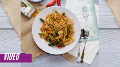 El mejor espegueti con pollo y verduras salteadas, ¡fácil y económico!